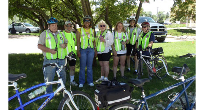 bold bicycle riding group image